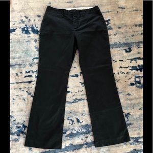 Gap Classic Fit Clean Cut Khakis Black Sz 6 EUC